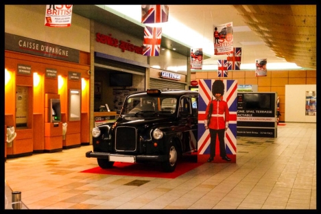 Cora, Rennes, Grandes surfaces, so british, taxifun, exposition, black cab, actions grand public